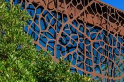 facciata cantina - corten