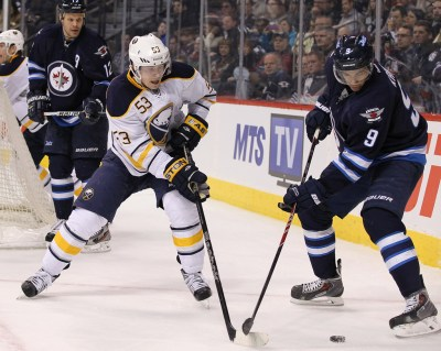 Mark Pysyk Photos Photos - Buffalo Sabres v Winnipeg Jets - Zimbio