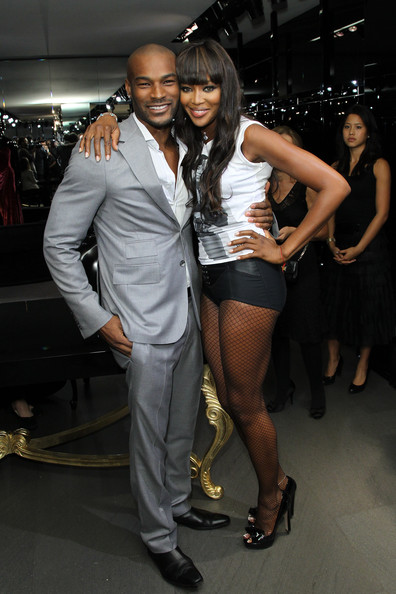 Tyson Beckford and Naomi Campbell attend the Dolce & Gabbana celebration of Fashions Night Out at Dolce & Gabbana Boutique on September 10, 2010 in New York City. (September 9, 2010 - Photo by Neilson Barnard/Getty Images North America)