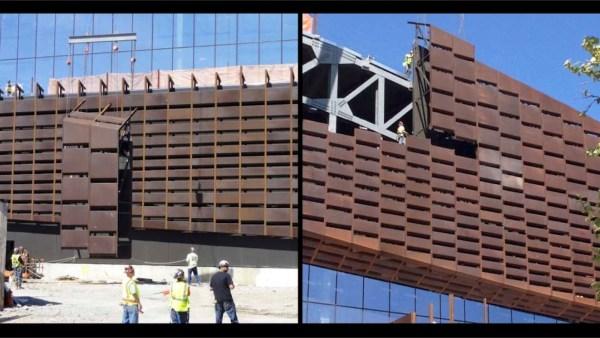 Barclays Center: Installation of 12,000 unique panels