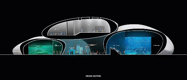 Batumi Aquarium Cross Section