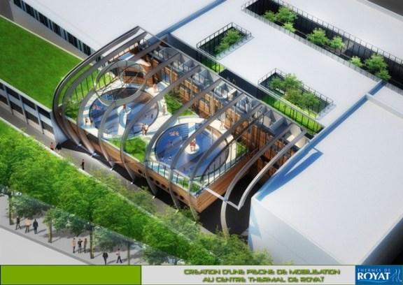 Axonometric view - swimming pools