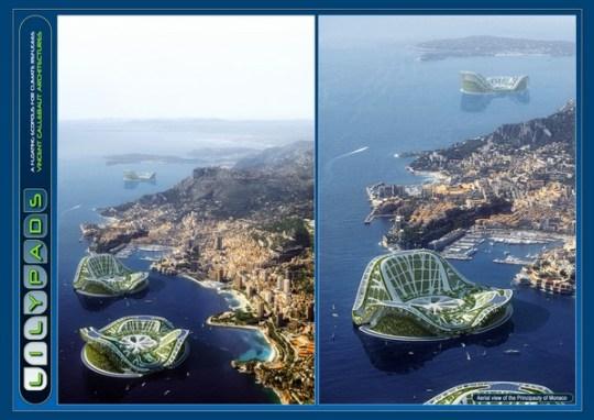Aerial view of Monaco Bay