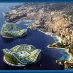 Aerial view of principality of Monaco