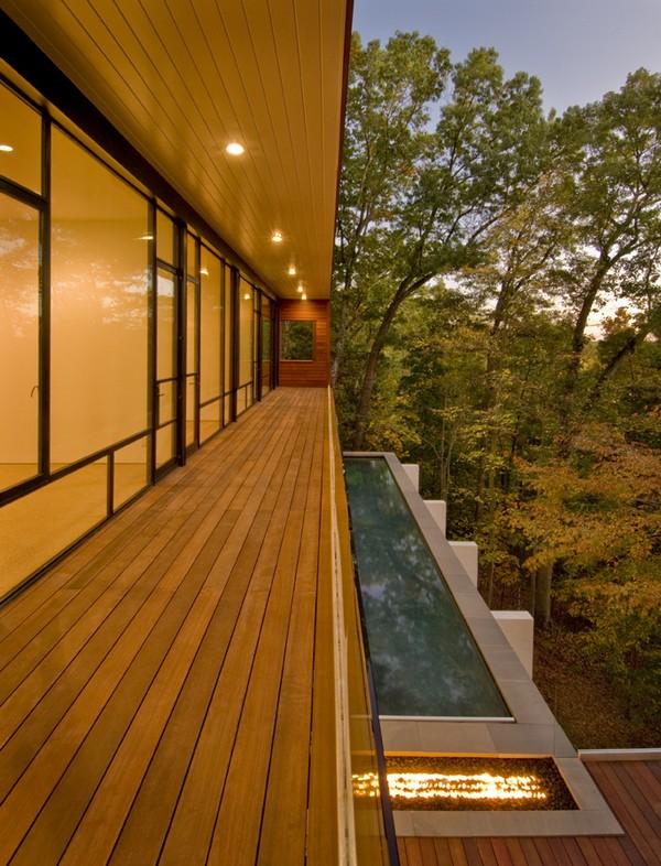 Second Floor Balcony and Lap Pool Below ©Maxwell MacKenzie