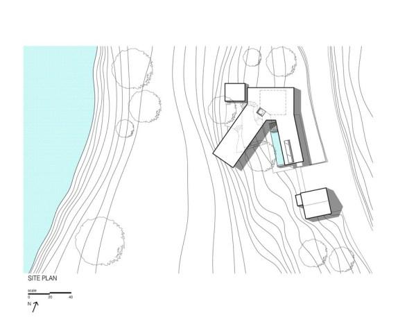 Napa River House Site Plan