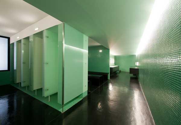 Interior View of Locker Room