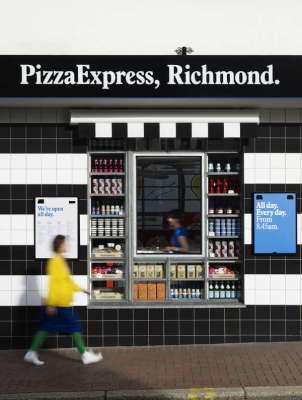 Pizza Express Kiosk exterior view - Photograph: John Short - Image © Ab Rogers Design