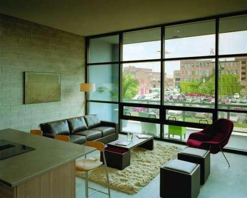 Interior loft view