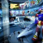 A giant robot is centre of the permanent exhibition spiral