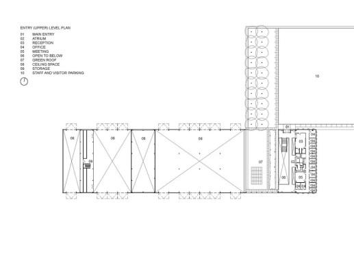 Upper Level Plan (Image Courtesy RDH Architects)