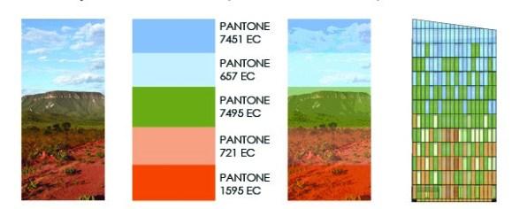 Diagram of colors