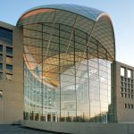 4121_2_14_View of South Facade at United States Institute of Peace at Dusk