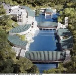 Crystal Bridges Aerial view of model
