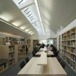 Interior View of Library (Images Courtesy Peter Cook)