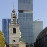 St Stephen Walbrook Church with west facade of Rothschild Bank (Copyright  OMA)