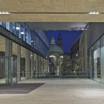 Forecourt and St Stephen Walbrook at night (Copyright  OMA by Philippe Ruault)