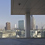 Rooftopview on London framed by Sky Pavilion (Copyright  OMA by Philippe Ruault)