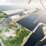 Gateway plaza aerial view