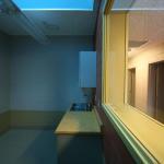 Skylight blue over Cat Isolation room (Image Courtesy studio a/b architects)