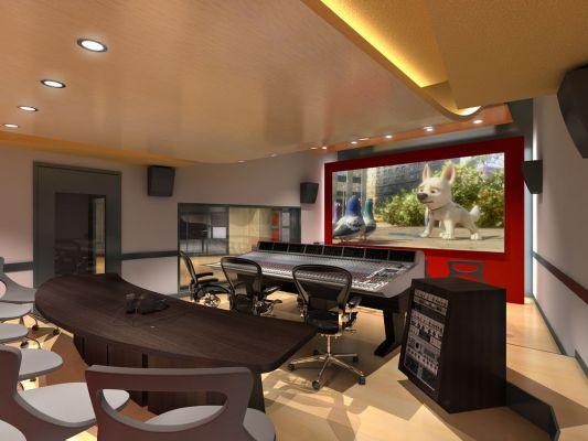 Front - Rendering of Control Room of Berklee Valencia