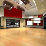 Rendering of Live Room of Berklee Valencia