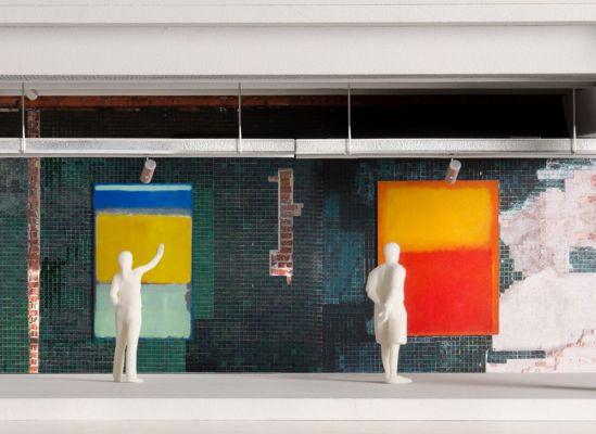 Hinged panels up (Image courtesy of OMA)