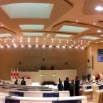 Plenary hall opening