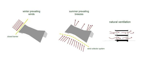 Natural ventilation : Image Courtesy Donner Sorcinelli Architecture