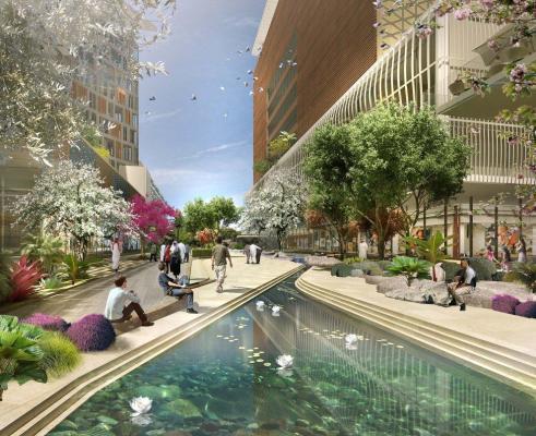 The Attractive, Inviting, Al Maktoum River Walk Connects Six Distinct Districts : Image Courtesy Klingmann Architects + Brand Consultants
