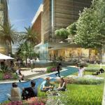 Al Maktoum River Walk Connects the Main Plaza and the Esplanade : Image Courtesy Klingmann Architects + Brand Consultants