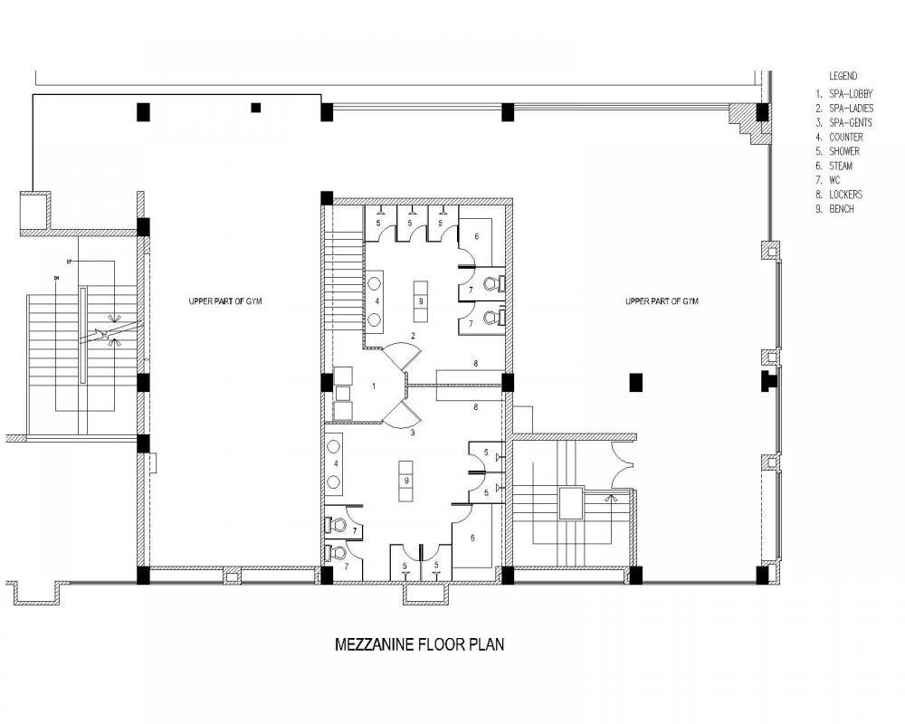 Crunch gym spa fitness centre by vivea for Gym floor plans