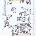 Sketch studio3 : Image Courtesy Schemata Architects