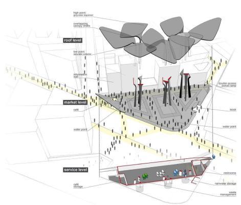 AXONOMETRIC : Image Courtesy TomDavid Architecten