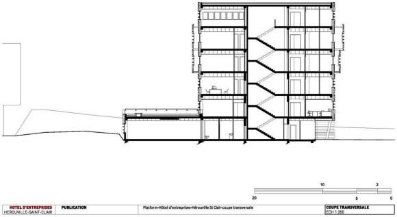 Coupe Transversale : Image Courtesy Platform Architectures