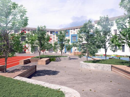 Schoolyard 1 : Image Courtesy Kjellgren Kaminsky Architecture