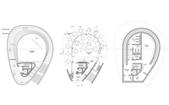 First floor, ground floor and basement plan : Image Courtesy NEX