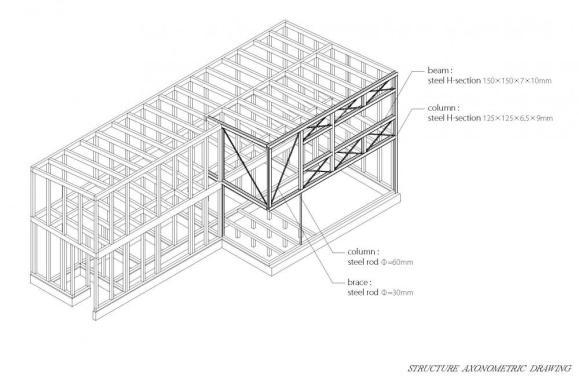 Axo : Image Courtesy Naoi Architecture & Design Office