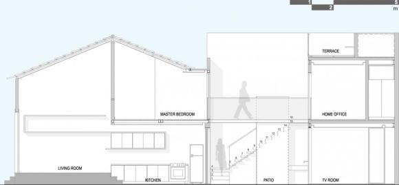 Longitudinal Section : Image Courtesy Arquitetura da Vila