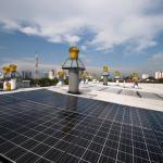 Solar PV array, light and vent tubes 2 : Image Courtesy © Lin Ho
