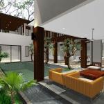 Back pavillion : Image courtesy Herryj Architects