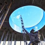 up through the pavilion oculus : Image Courtesy © Bill Baxley