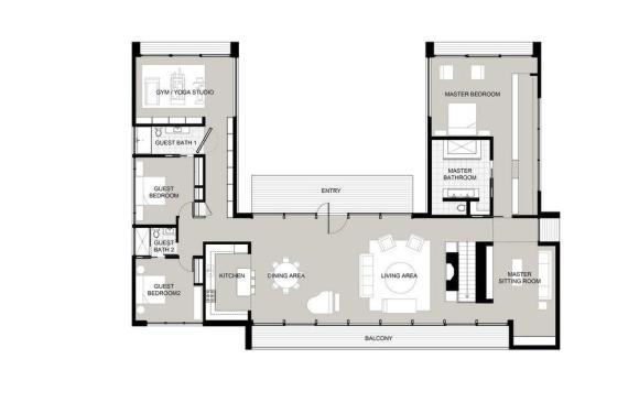 Upper Plan : Image courtesy Specht Harpman Architects