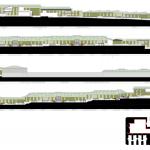 Elevations : Image courtesy A i B arquitectes + Estudi PSP Arquitectura