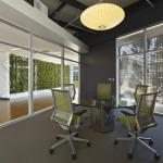 Image Courtesy © Bruce Damonte, A FRONT OF HOUSE CONFERENCE ROOM. THE ENTRY SCREEN FILTERS LIGHT INTO THE SPACE.
