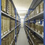 Space for numerous documents in the new archive, Image Courtesy © Heiner Leiska
