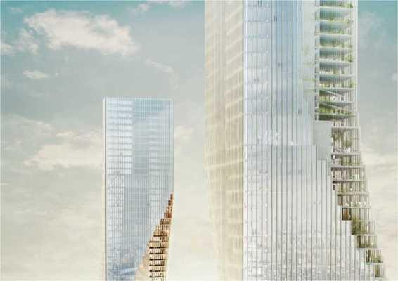 Image Courtesy ©  spatial practice, Harbin Towers  Bird'seye