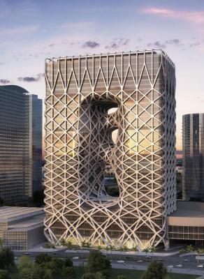 North Elevation, Image Courtesy © Zaha Hadid Architects