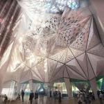 Lobby Atrium, Image Courtesy © Zaha Hadid Architects