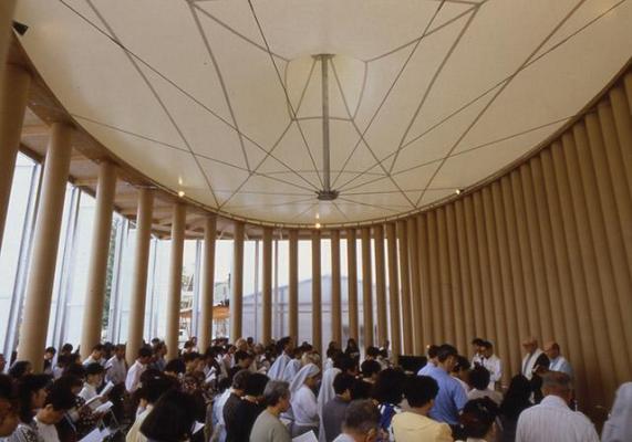 Paper Church, Kobe, Japan, 1995, Photo by Hiroyuki Hirai
